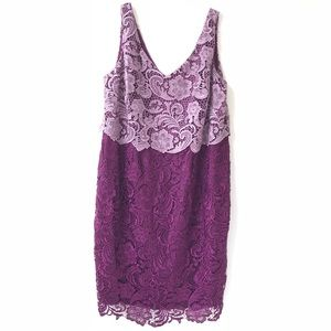 Adrianna Papell Lace 2 Color Sleeveless Dress